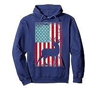 American Flag Deer Hunter, Patriotic Gift Idea For T-shirt Hoodie Navy