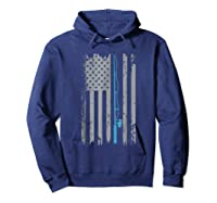 American Flag Fishing Vintage Fishing Shirts Hoodie Navy