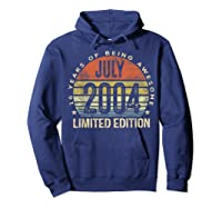 July 2004 Limited Edition 16th Birthday 16 Year Old Gift Shirts Hoodie Navy