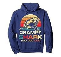 Grampy Shark Doo Doo Doo Fathers Day Gift Shirts Hoodie Navy