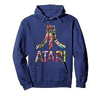 Atari Montage Logo Arms Shirts Hoodie Navy