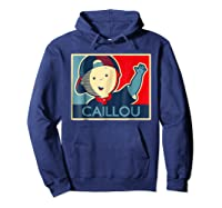 Caillou T Shirt Hoodie Navy