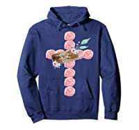 Where Flowers Bloom So Does Hope Floral Christian Cross Shirts Hoodie Navy