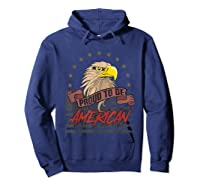 Cool American Flag Eagle Powerful Us Army Patriot Gift T-shirt Hoodie Navy