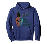 The Raven, Edgar Poe, Fan Art T-shirts And Gifts T-shirt Hoodie Navy