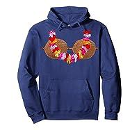 Mermaid Coconut L T-shirt Beach Summer Bra Tee Hoodie Navy