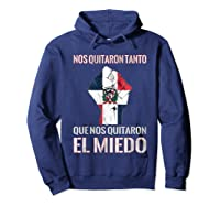 Dominican Republic Flag Fist Dominican Election 2020 Protest T-shirt Hoodie Navy