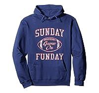 Vintage Sunday Funday T Shirt New England Football Retro Tee Hoodie Navy
