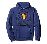 Romania Romanian Flag Design On Soccer Ball Artsy Football Shirts Hoodie Navy