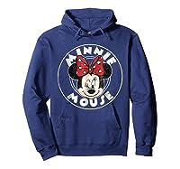 Circle Minnie Shirts Hoodie Navy