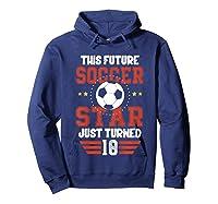 10th Birthday Soccer Birthday Boy Shirts Hoodie Navy