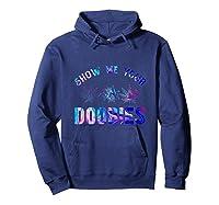 Show Me Your Doobies Weed T-shirt Hoodie Navy
