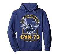 Cvn-73 Uss George Washington Zip Shirts Hoodie Navy