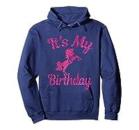 It\\\'s My 8th Birthday Girls Party 8 Pink Unicorns T-shirts T Hoodie Navy