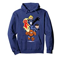 Fantastic Four Shirts Hoodie Navy