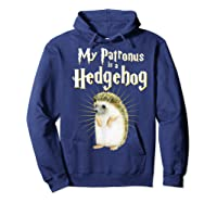 My Patronus Is A Hedgehog Harry Fan Cute Gift Shirts Hoodie Navy