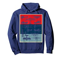 Aneisha Vintage Airplane Gift For Pilot Aviation Students Shirts Hoodie Navy