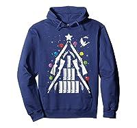 Shotgun Christmas Tree For Duck Hunters Shirts Hoodie Navy