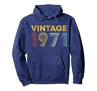 49th Birthday Gift Idea Vintage 1971 Shirts Hoodie Navy