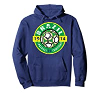 Football Is Everything - Brazil Vintage T-shirt Hoodie Navy