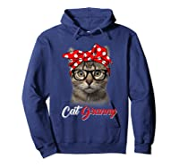 Funny Cat Granny Shirt For Cat Lovers-mothers Day Gift Hoodie Navy