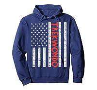 Us Flag Taekwondo Vintage Patriotic Martial Arts Lover Gift T-shirt Hoodie Navy