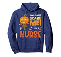 Halloween You Can\\\'t Scare Nurse Funny T-shirt Hoodie Navy