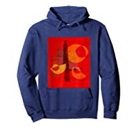 Red And Orange Abstract Shapes Shirts Hoodie Navy
