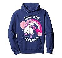 Unicorns Are Born In February Shirt Birthday Girl Gift Hoodie Navy