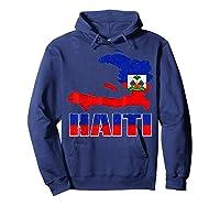 Vintage Haitian Flag I Love Haiti Shirts Hoodie Navy