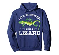 Life Is Better With A Lizard Shirts Hoodie Navy