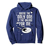 Star Trek Only One For Me Valentine's Day Graphic Shirts Hoodie Navy