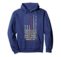 Thin Red Line Firefighter Bible Verse Usa American Flag Shirts Hoodie Navy