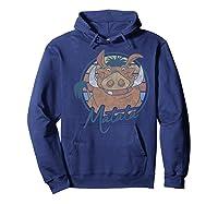 The Lion King Pumbaa Matata Text Portrait Shirts Hoodie Navy