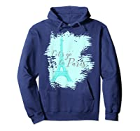 Let\\\'s Go To Paris Eiffel Tower France French Souvenir T-shirt Hoodie Navy