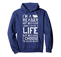 I Am A Reader Book Quote Bookworm Reading Literary T-shirt Hoodie Navy