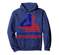 S Being A Veteran Is An Honour Being A Dad Is Priceless T-shirt Hoodie Navy