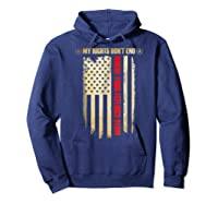 My Rights Don't End Where Your Feelings Begin Shirts Hoodie Navy