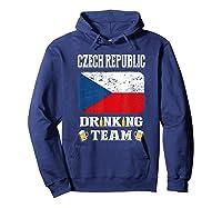 Czech Republic Drinking Team Funny Beer T Shirt Hoodie Navy