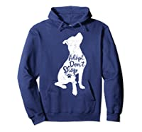 Adopt Don't Shop Rescue Pitbull Dog Breed Pit Bull Mom Gift Shirts Hoodie Navy