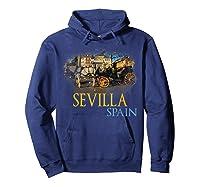 Sevilla Spain Watercolor Family Souvenir Shirts Hoodie Navy
