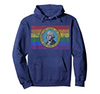 Washington Lgbt Gay Pride Flag T-shirt Hoodie Navy