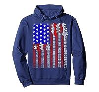 Guitar Vintage American Usa Flag Rock 4th Of July Shirts Hoodie Navy