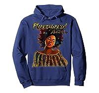 Phenoal Natural Hair Gift For Black Woman Shirts Hoodie Navy