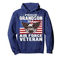 Proud Grandson Of Air Force Veteran Patriotic Military Gifts Shirts Hoodie Navy