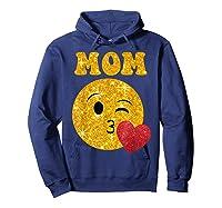 Emoji Gift For Mom Kissing Emoji Heart Mothers Day Shirts Hoodie Navy