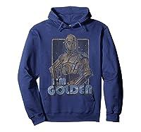 Star Wars C-3po I\\\'m Golden Pose Graphic T-shirt Hoodie Navy