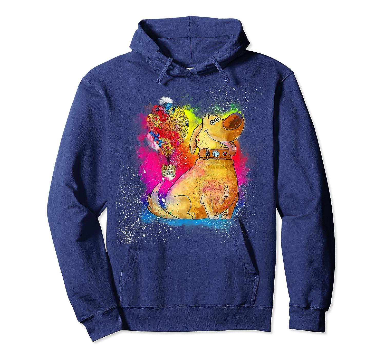 Pixar Up Dug Watercolor Rainbow Graphic Shirts Unisex Pullover Hoodie