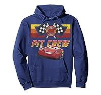 Disney Pixar Cars Mcqueen Pit Crew Red Distressed T-shirt T-shirt Hoodie Navy