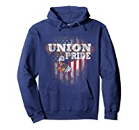 Union Pride American Flag Eagle Labor Day Usa Worker Shirts Hoodie Navy